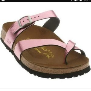 Papillio Birkenstock Pink Metallic Leather Sandal